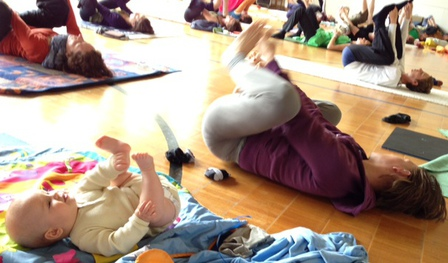 mom n babe Awareness Through Movement class